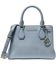 New Michael Michael Kors Camille Small Satchel pale blue SM satchel leather$328