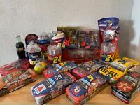 Jeff Gordon Tony Stewart Terry Labonte Ricky Rudd Candy Tin NASCAR Pez Mug Coke