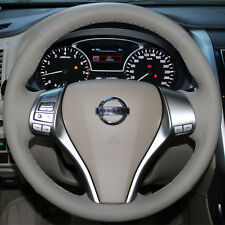 Beige Steering Wheel Cover for Nissan Altima 2.5 2015 2016 Rogue SUV X-Trail ST