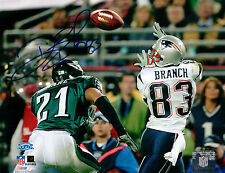 Deion Branch New England Patriots Signed Autographed 8x10 Photo SB XXXIX
