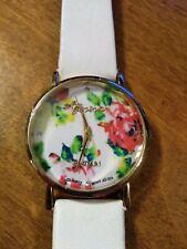 Vintage Geneva Platinum flower Ladies watch, running w/new battery installed M