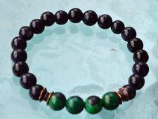 8 mm Rare Green Lapis Lazuli Jade Handmade Mala Beads Bracelet - Increase Wisdom