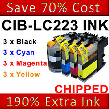 12 Ink Cartridges For Brother LC223 DCP-J562DW MFC-J480DW MFC-J680DW MFC-J880DW