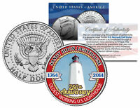 SANDY HOOK LIGHTHOUSE *250th Anniversary* 2014 JFK Half Dollar Colorized US Coin