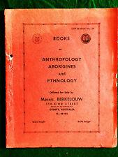 Messrs. Berkelouw. (Firm). Catalogue No. 39. Anthropology, Aborigines...