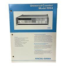 RACAL-DANA MODEL 1994 UNIVERSAL COUNTER TECHNICAL DATA SHEET