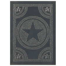 Country gray new tin punched STAR cabinet panel / 10 x14