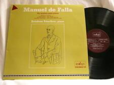 MANUEL DE FALLA Piano Music ESTEBAN SANCHEZ EnSayo 808 SPAIN LP