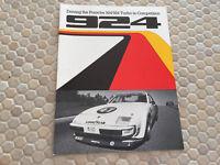 PORSCHE 924 D & 924 C PRODUCTION RACE CAR SALES BROCHURE 1980