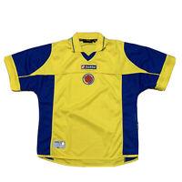 Rare Vintage Colombia Lotto Home Jersey Size Small Yellow Classic Cafeteros