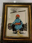 Antique Persian Tehran  Watercolor 1965 Signed  and framed