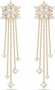 Swarovski Magic Pierced Earrings White Rose-Gold Plated