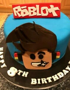 EDIBLE ROBLOX CAKE TOPPER CAKE DECORATION BOYS OR GIRLS BIRTHDAY GIFT