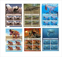 PREHISTORIC LIFE DINOSAURS  11 SOUVENIR SHEETS MNH IMPERFORATED