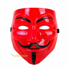 Red V For Vendetta Face Mask Guy Fawkes Halloween Party Masquerade Anonymous USA