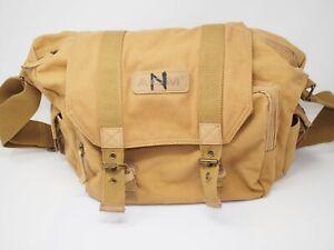 AGM Khaki Canvas Camera Shoulder/Gadget Bag