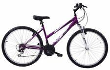 "Ladies Mountain Bike Mountaineer 26"" Wheel 16"" Frame Womens Suspension Purple"