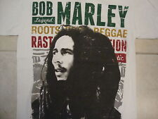 Bob Marley Legend Reggae Rasta Jamaican Music Distressed White T Shirt M