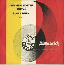 """Bing Crosby: Steven Foster Songs:  33 RPM 10"""" LP 1950'S"""