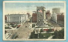 Cleveland, Oh/ Public Square/ Superior & Euclid Aves/ bldgs/ trolleys/postcard