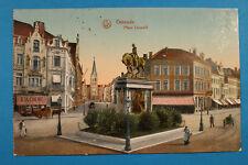 Belgien AK Ostende Oostende 1916 Place Leopold Boucherie Rue Maison Metzger  BE6