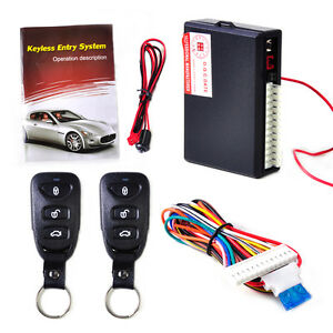 Car Universal Keyless Entry System Remote Central Kit Door Lock Locking Vehicle