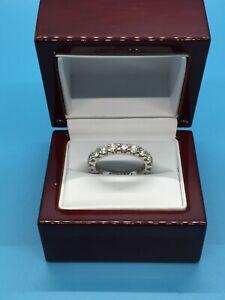 GORGEOUS 18K WHITE GOLD  2.00 TCW DIAMOND ETERNITY BAND  RING