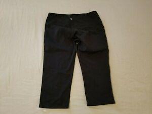 Womens Athleta Capri Pants M Medium Black Athletic Gym Workout