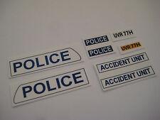 Dinky 287  - Police Bedford Van Stickers -B2GF