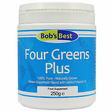Four Greens Plus Vitamin C - 250g - from Bob's Best Natural Health Range