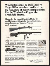 1972 WINCHESTER Model 70 & 52 Target Rifle AD