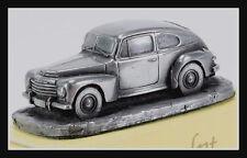 wonderful HO-Autosculpt miniature VOLVO PV 444 K 1956  - 1/87 - pewter optic