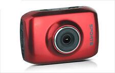 Action Waterproof Camera HD 720P For Sport Car Helmet DV Bike Cam FREE BAG Red