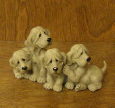 "Quarry Critters #50244 Puzzled-Gold Puppies 3"" Tall NEW from Retail Store"