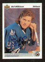 Neil Wilkinson signed autograph auto 1991-92 Upper Deck Hockey Card