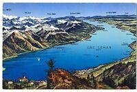 CPA Suisse Lémanique Panorama du Lac Léman