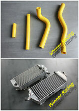 FOR SUZUKI RM125 RM 125 2001-2008 BRACED RADIATOR & SILICONE HOSE 2002 2003