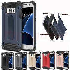 Heavy Duty Shockproof Hybrid Armor Tough Hard Case Cover for Samsung & iPhone 7