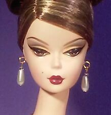 Barbie Dreamz White Pearl Tear Drop Earrings w GOLD Posts Doll SET Teardrop OOAK