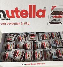 Nutella Portionspackungen 120 x 15 g Portionen einzeln verpackt Mini klein