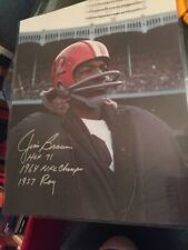 PSA DNA Jim Brown SIGNED Auto INSCRIPTIONS 16x20 FOOTBALL Photo
