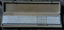 Vintage FABER CASTELL RECHENSCHIEBER + Hülle 111/54 DARMSTADT SLIDE RULE