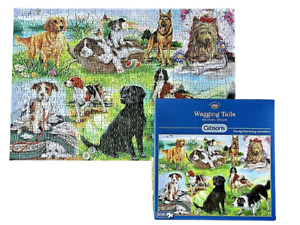 GIBSONS JIGSAW PUZZLE 🧩 WAGGING TAILS BY MICHAEL BEVAN 500 PIECES COMPLETE