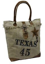 Canvas sac en bandoulière femmes Sac de courses Vintage - Texas