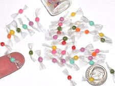 10pc miniature dollhouse bubble gum balls wrapper Mix Candy rare treat tiny food