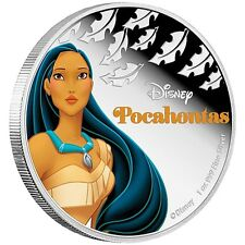 Niue Disney $2 Dollars, 1 oz. Silver Proof Coin, 40mm, 2016, Princess Pocahontas