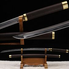 Full Tang Blade Katana Japanese Samurai Sword 1060 Carbon Steel Hand Forge -0221