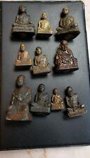 THAILAND BUDDHIST MONK MINIATURES--10 PIECE COLLECTION