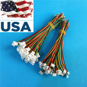 20sets Mini. Micro JST 1.25mm T-1 4-Pin JST Connector w. Wire USA Ship