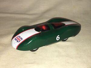 SCHYLLING Abarth RACE CAR # 6 BRITISH FLAG TIN SPARK FRICTION TOY CAR